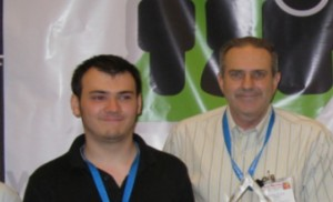 Adam Frisby (left) and Charles Krinke (right), two of the core developers behind OpenSim.