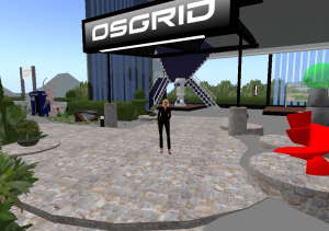 Entrance of Wright Plaza on OSGrid