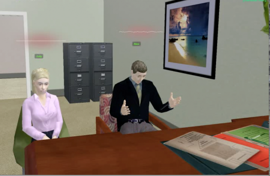 InWorld couples therapy. Photo courtesy Forterra Systems.
