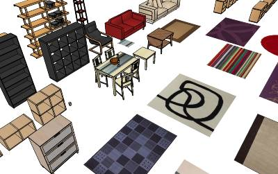 IKEA furniture in Google's 3D Warehouse