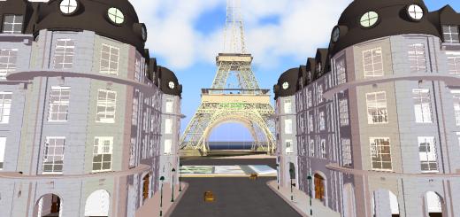 A Paris street on FrancoGrid.