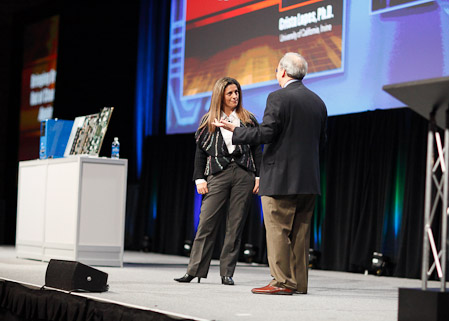 Hypergrid inventor Crista Lopes and Intel CTO. (Photo )