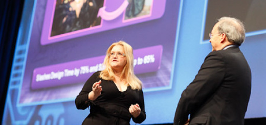 Fashion Research Institute CEO Shenlei Winkler and Intel CTO Justin Rattner. (Photo courtesy SC09.)