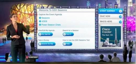 Cisco Virtual Global Sales Meeting (Image courtesy Cisco)