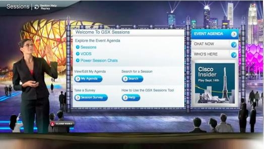 Cisco Virtual Global Sales Meeting (Image courtesy Cisco)