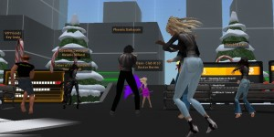New Year Eve party on OSGrid. (Photo by Key Gruin.)