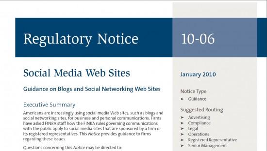 FINRA Regulatory Notice
