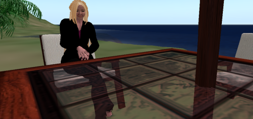 Hanging out at the beach on my private OpenSim grid.