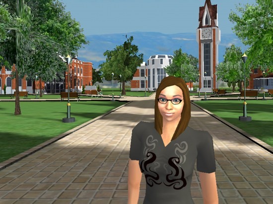 A virtual campus in ProtoSphere. (Image courtesy ProtonMedia.)