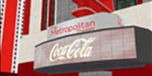 Coca-Cola's CCMetro center in There.com. (Image courtesy Makena Technologies.)