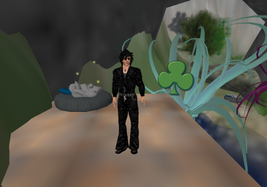 Lee Oldrich's hides a Shamrock for the St. Patrick's Day scavenger hunt on OSGrid.