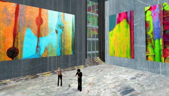 An art gallery on the now-defunct Aesthetica region on OSGrid.