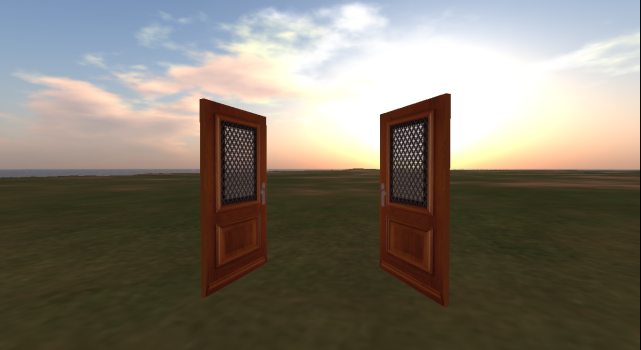 Open doors in OpenSim.