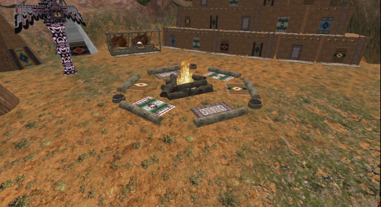A Native American camp on the Wilder Westen grid, where half the visitors come via hypergrid teleport.
