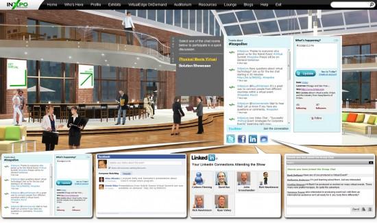 InXpo Social Media Lounge (Image courtesy InXpo.)