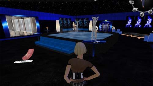 "A ""Salon de Massage"" is one of many adult-themed destinations on the Virtual World Web platform. (Image courtesy Utherverse.)"