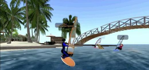 Virtual windsurfing. (Image courtesy Club One.)