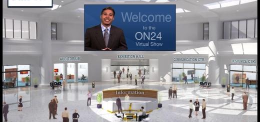 On24 Virtual Show Plaza (Image courtesy On24)