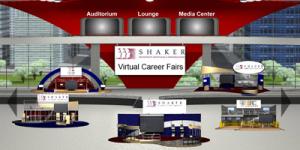 Virtual career fair. (Image courtesy Shaker)