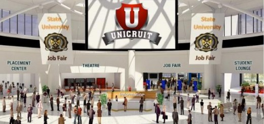 Unicruit virtual job fair. (Image courtesy UBM Studios.)