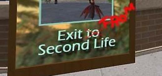 Exit from Second Life