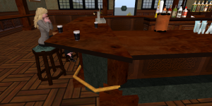 Waiting for company at Molaskey's Pub in Second Life.