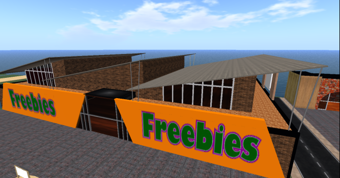 Freebie store under construction on YFC3D grid. (Image courtesy YFC.)