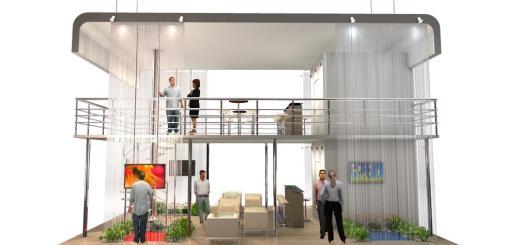 A virtual exhibit booth at an Expos2 trade show. (Image courtesy Expos2.)