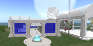 Welcome area on AnSky Grid.