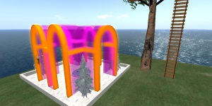 Caisland in OpenSim. (Image courtesy ..)
