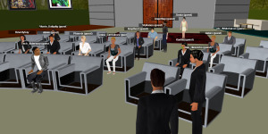 A virtual event held in 3DXplorer. (Image courtesy Altadyn.)