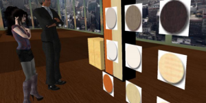 Collaboration in the OpenSim virtual environment. (Image courtesy Fashion Research Institute, Inc.)