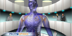 A virtual body in ProtoSphere. (Image courtesy ProtonMedia.)