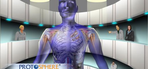A virtual body in ProtoSphere. (Image courtesy ProtonMedia.)