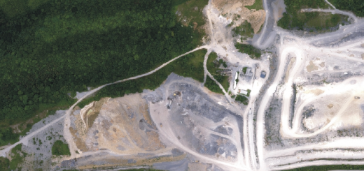 Google Map of Gatewing Grove limestone mine.