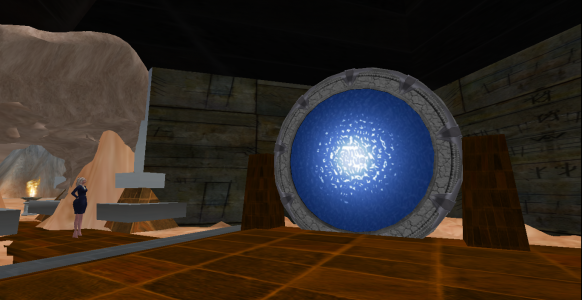 Closeup of a hypergate on the Lani region of OSgrid.