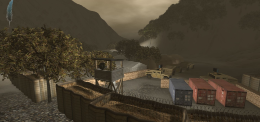 A virtual environment developed in MOSES, an OpenSim grid. (Image courtesy Douglas Maxwell.)