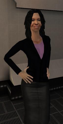 Michelle Obama avatar. (Image courtesy Utherverse.)