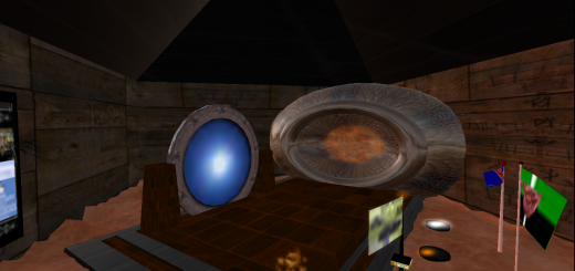 Hypergates on Lani region in OSGrid. Again, the one on the left is from The Hypergates.