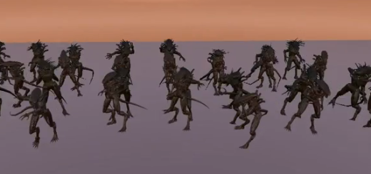 Click image above to watch video of 40 alien NPC's dancing, while wearing 3,500 prims worth of attachments image. (Video by Michael Cerquoni.)