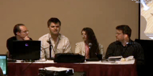 SLCC panel, from left to right: Jeroen Frans, Chris Collins, Kimberly-Rufer Bach and Ron T. Blechner.