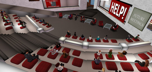 A 2010 meeting of the Virtual Worlds Education Roundtable. (Photo courtesy Ski Bellow via Flickr.)