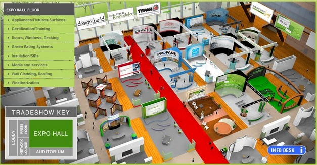 Layout of a virtual trade show