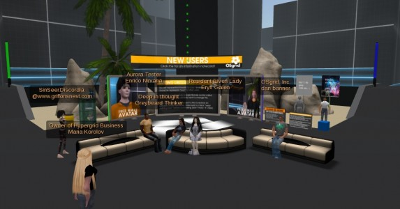 OSgrid's LBSA Plaza is the cross-roads of the hypergrid.