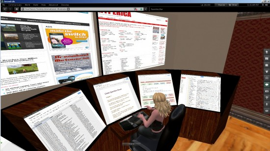 Some of these articles were written in my virtual office on my own OpenSim grid.