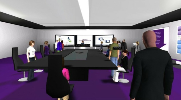A virtual meeting in AvayaLive Engage. (Image courtesy Dan Pontefract.)