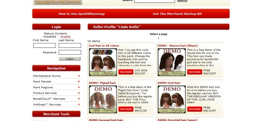 """""""Linda Kellie Exclusive"""" content is available in-world and also from Synergy, SpotON3D's online marketplace."""