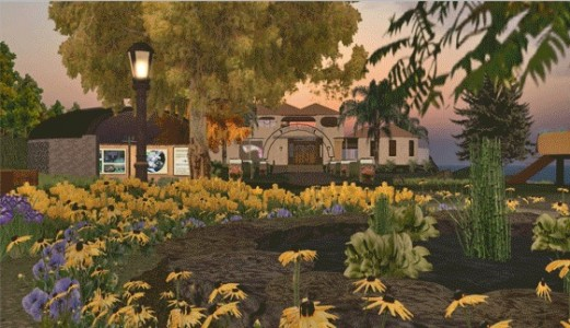The Serenity Island region by Lawrence Pierce is an extremely complex, rich build with 100,000 prims. Click image to visit. (Image courtesy Lawrence Pierce.)