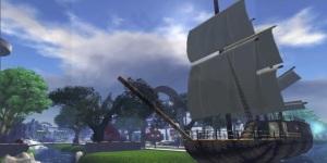 Virtual Highway sailing ship