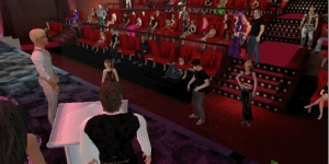 An audience at the 2012 Adult Entertainment Virtual Convention. (Image courtesy Utherverse.)